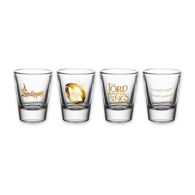 Set de 4 verres à liqueur Le Seigneur des anneaux