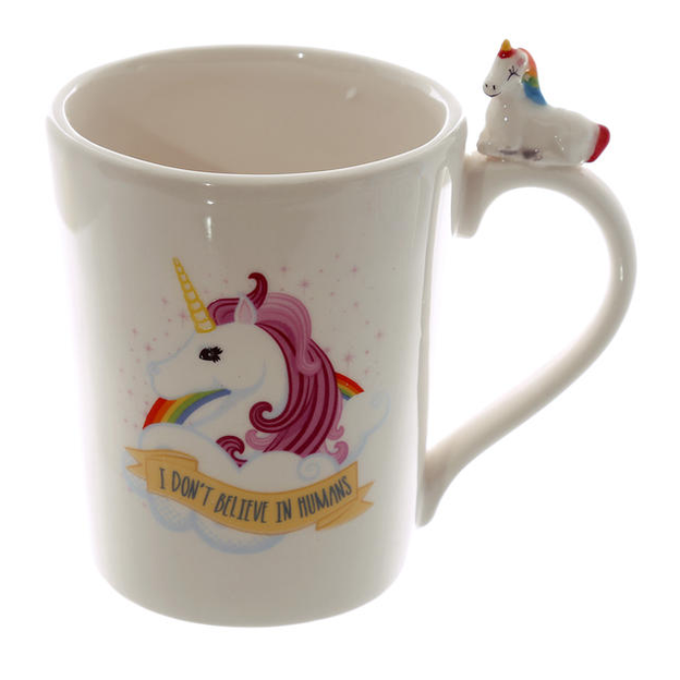 Einhorn Tasse 2er Set I DON'T BELIEVE IN HUMANS