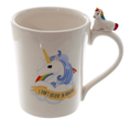 "Set de tasses Licorne ""I don't believe in humans"" 2 pcs"