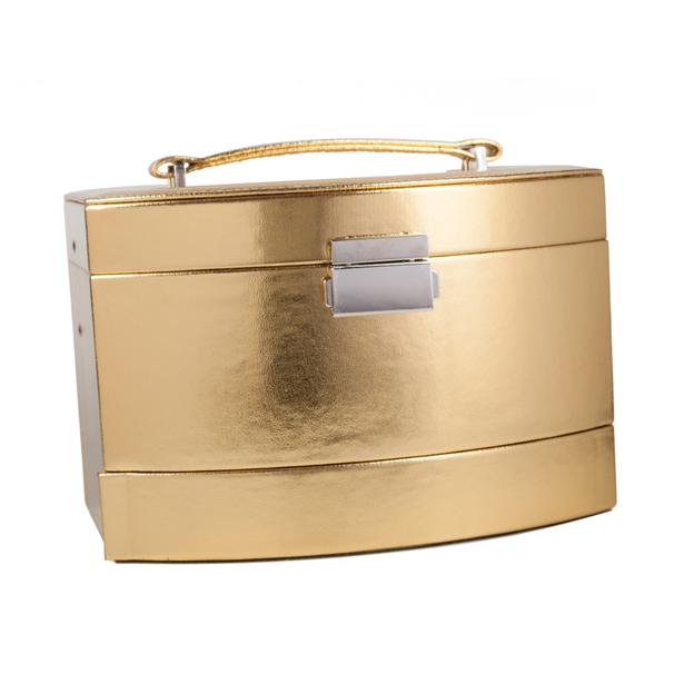 Schminkkoffer und Schmuckschatulle Gold Case