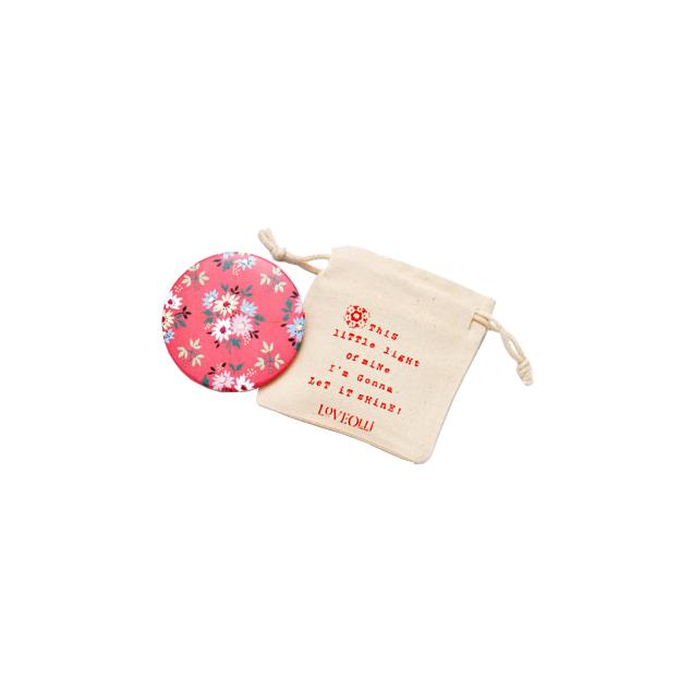 Handtaschenspiegel LoveOlli Blumen rot