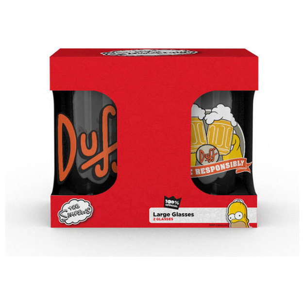 The Simpsons Glasset Duff Beer