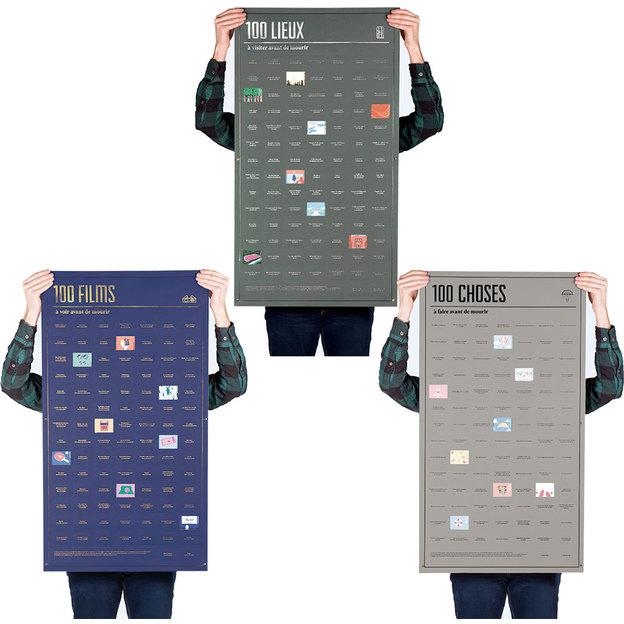 poster agenda 100 choses faire avant de mourir. Black Bedroom Furniture Sets. Home Design Ideas