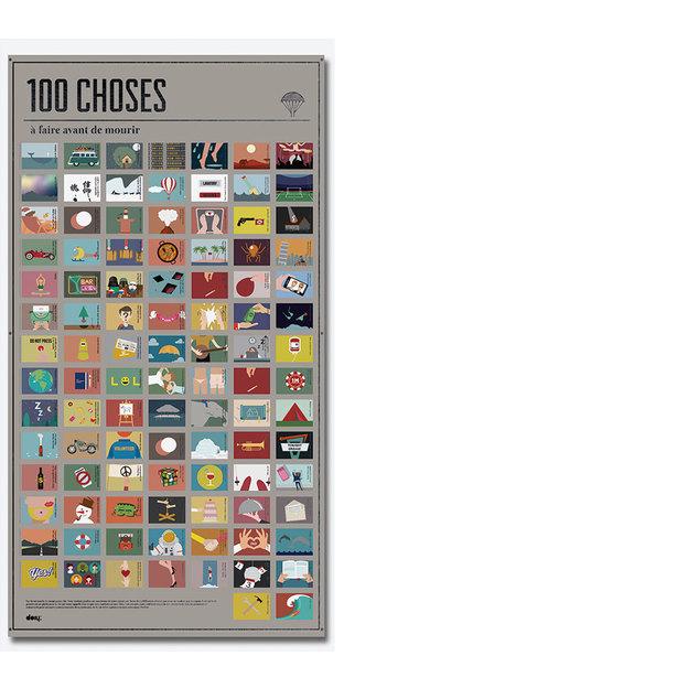Poster agenda 100 Choses à faire... avant de mourir