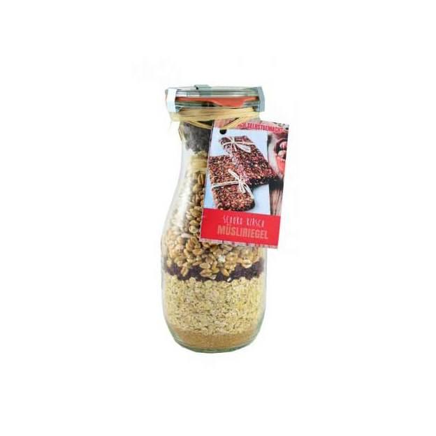 Müsliriegel Backmischung Schoko-Kirsch im Weckglas