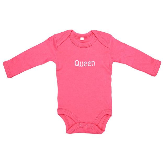 Personalisierbarer Babystrampler mit Symbol pink