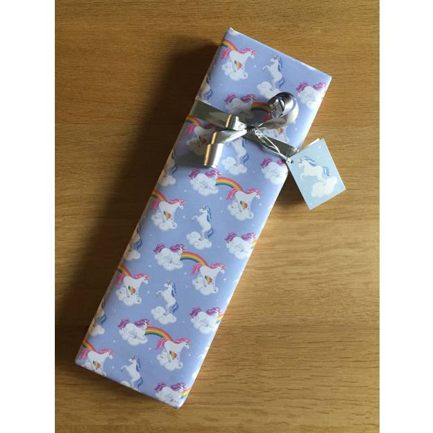 Set Papier cadeau Licorne et carte x12
