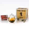 Geschenkset ErblühTee in der Holzbox mit weissem Tee