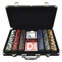 Mallette Poker avec jeux de cartes et 300 jetons