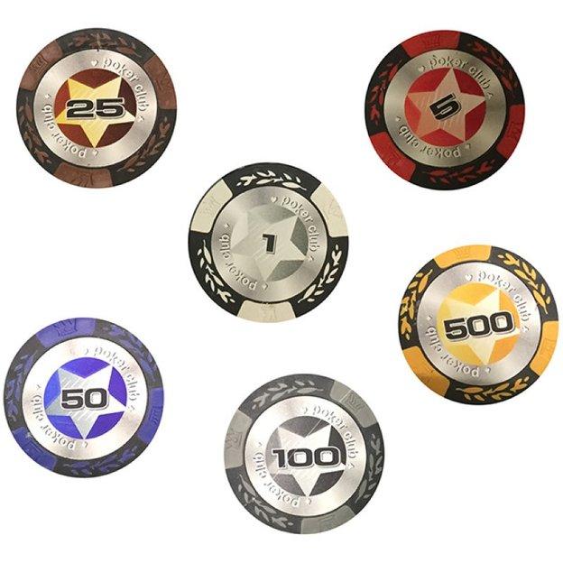 Pokerkoffer mit Spielkarten und 300 Chips