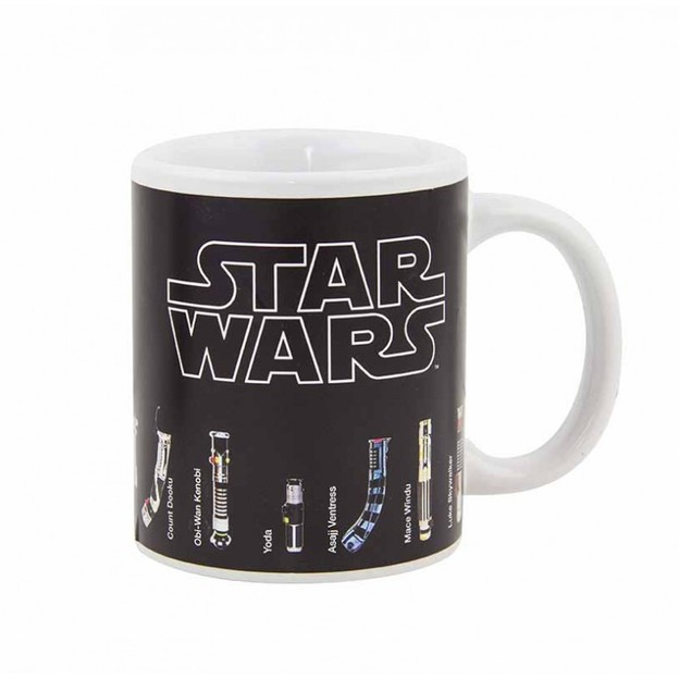 Tasse Star Wars thermo-sensible Sabres lasers