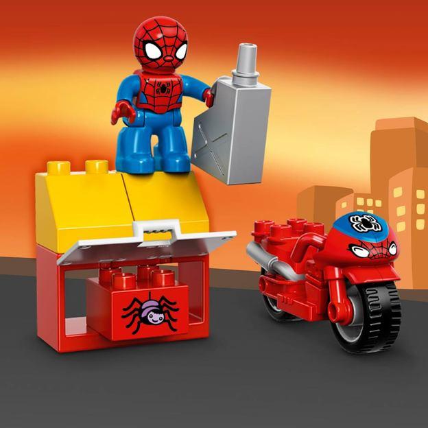 LEGO DUPLO Spider-Man Motorrad-Werkstatt