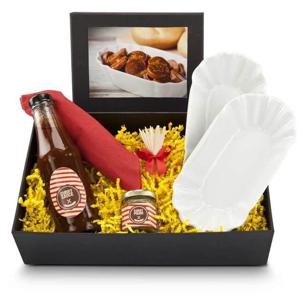 Coffret cadeau  «Curry-Tastic» avec sauce et accessoires pour currywurst