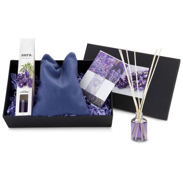 Coffret cadeau Lavande et bougie de massage