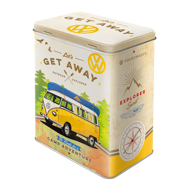 Boîte en métal rétro Get Away VW