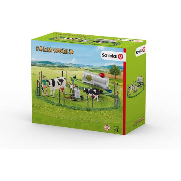 Kuhfamilie auf der Weide von Schleich