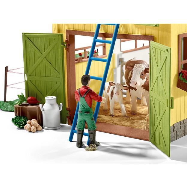 Grosser Bauernhof mit Tieren von Schleich