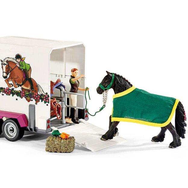 Pick-Up mit Pferdeanhänger von Schleich