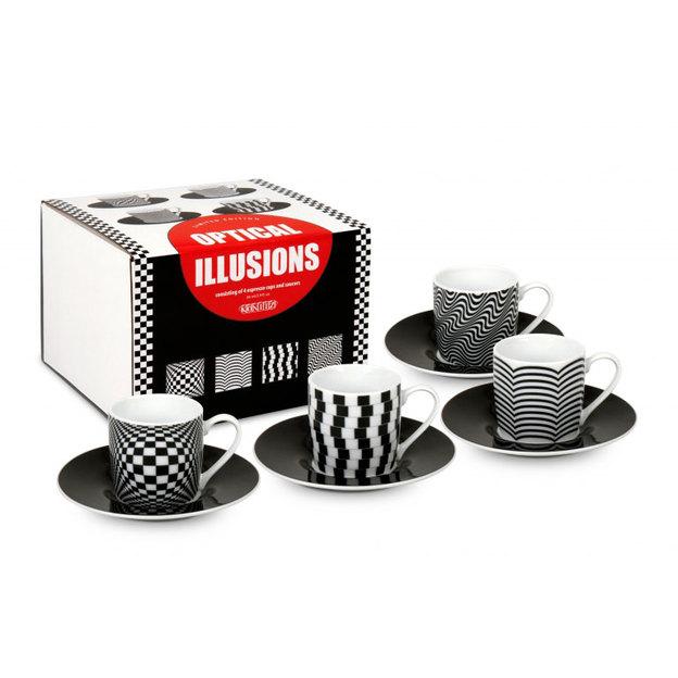 Espresso 4er Geschenkset Optical Illusions