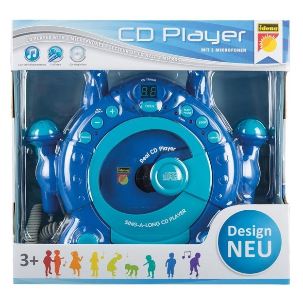 CD-Player mit 2 Mikrofonen