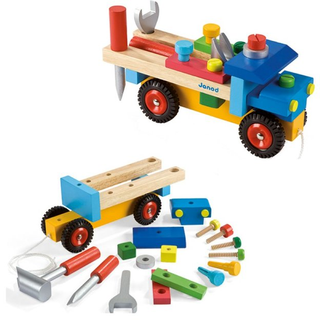 Bausatz Lastwagen bunt 17-teilig
