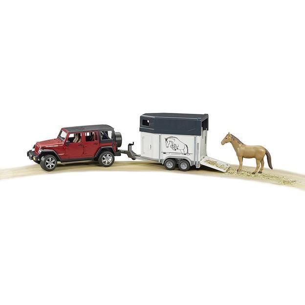 JEEP Wrangler Rubicon mit Pferdeanhänger