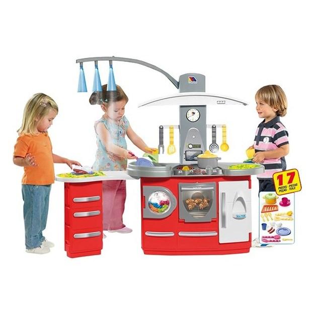 Cuisine pour enfant avec lumières et accessoires