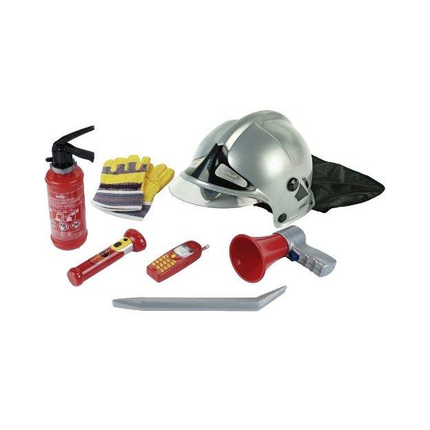 Feuerwehrset mit Helm 7-teilig