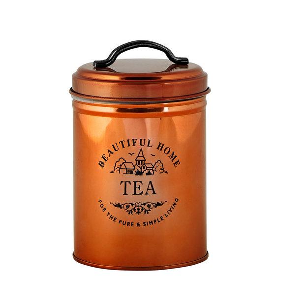 Aufbewahrungsdose Tee kupfer