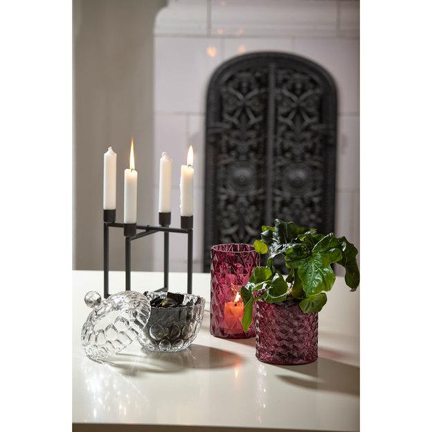 Kerzenhalter für 4 Kerzen aus Metall schwarz