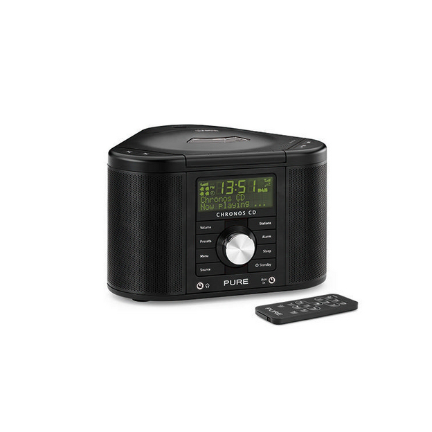 PURE Chronos CD II, UKW / DAB+Radiowecker mit CD-Player, schwarz