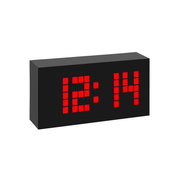 TFA Funk-Wecker Time Block, rot Weckalarm mit Snooze-Funktion