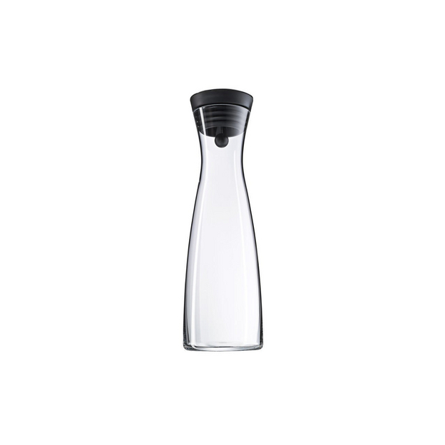 WMF Wasserkaraffe 1.5 l schwarz Basic aus Glas, Höhe 32.7cm