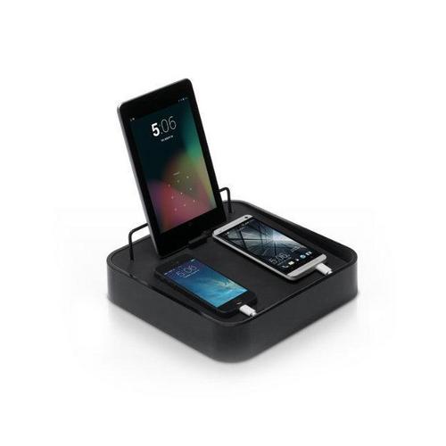 blueLounge Sanctuary4  schwarz Ladestation für Tablets, Handys etc.