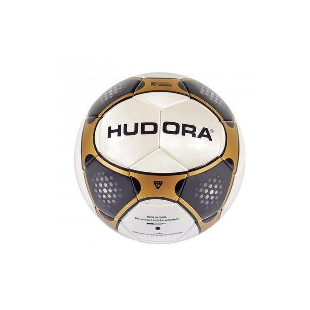 Hudora Fussball League, Grösse: 5, weiss, gold, schwarz,