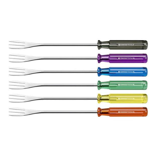 Fourchette à fondue avec le manche Classic légendaire, Set à 6 pièces, couleurs