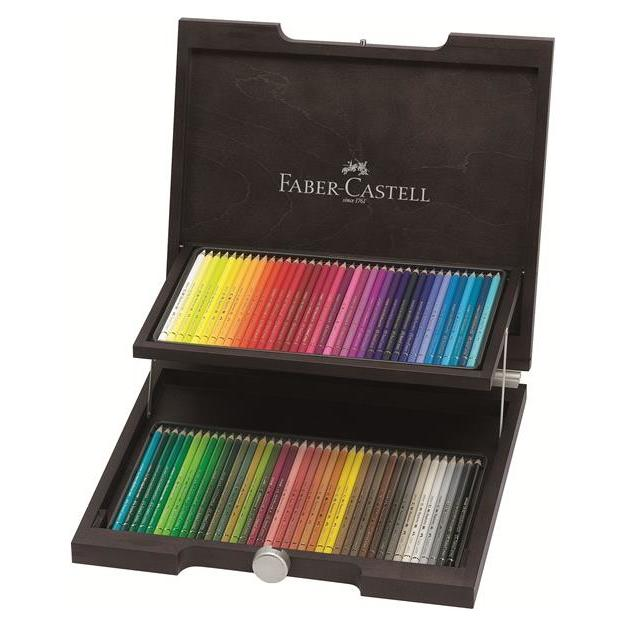 FABER-CASTELL 72er Polychromos Farbstifte im Holzkoffer