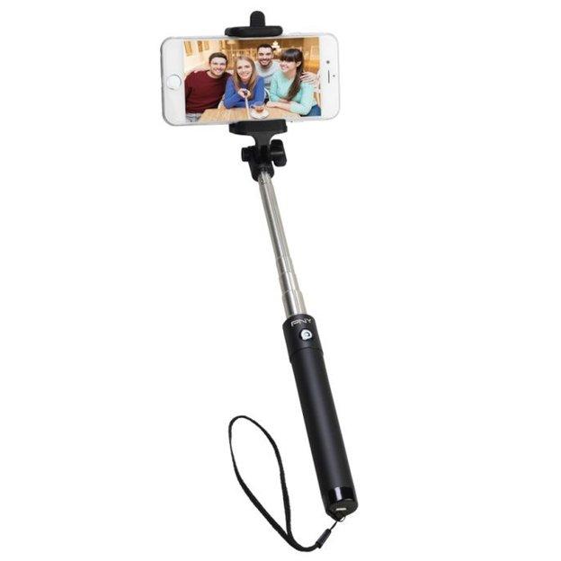 PNY Wireless Selfie Stick integrierter Auslöseknopf am Handgriff