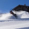 Ziesel fahren auf Schnee und Eis