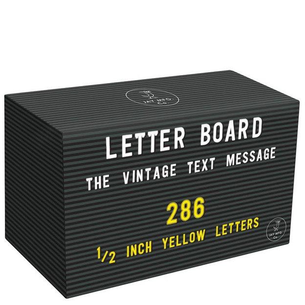 Set de lettres jaunes