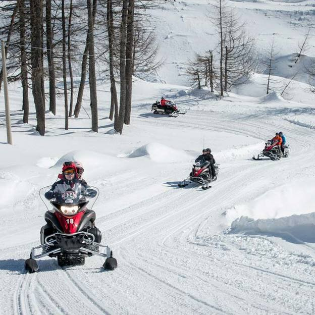 Snowmobile Tour in Madesimo