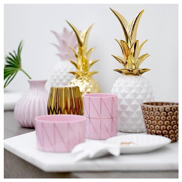 deko ananas aus keramik. Black Bedroom Furniture Sets. Home Design Ideas