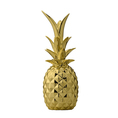 Deko Ananas aus Keramik gold