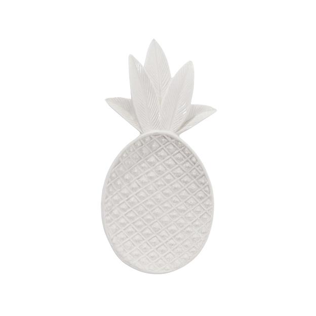 Dekoschale Ananas weiss