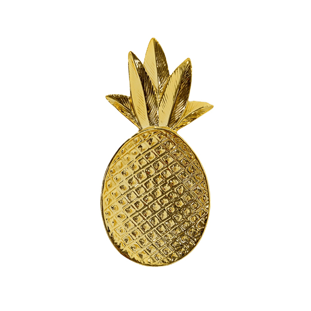 Dekoschale Ananas gold