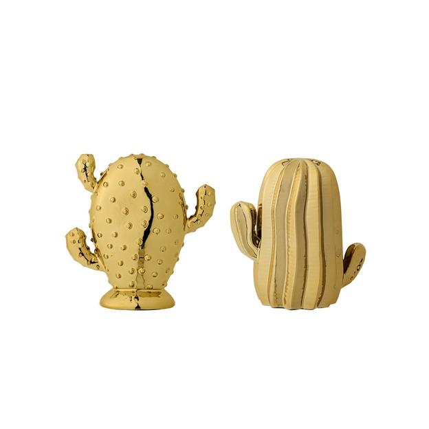 2 cactus dorés en céramique de Bloomingville