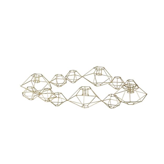 Kerzenständer geometrisch gold