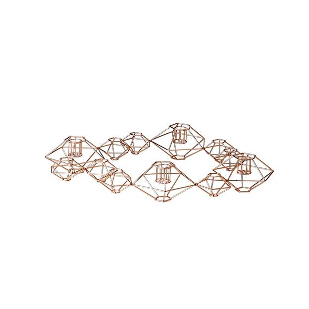 Kerzenständer geometrisch kupfer