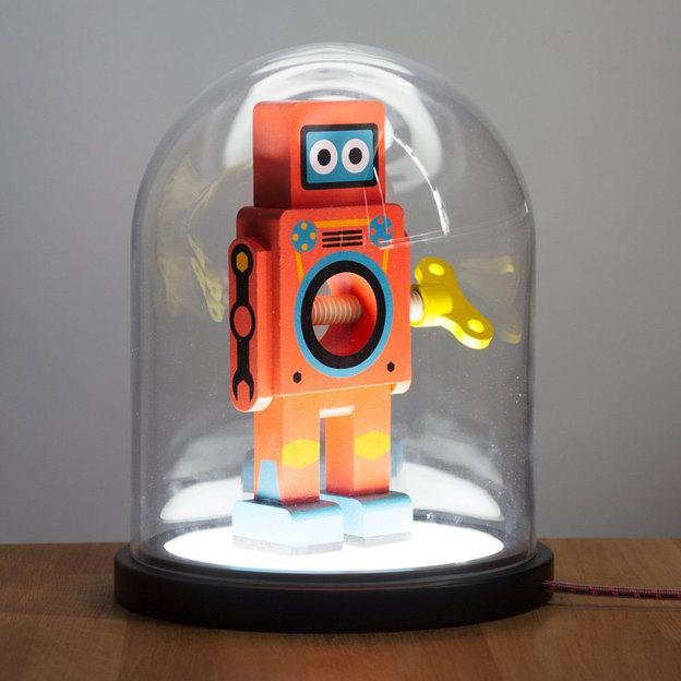 Glasglocke mit LED Beleuchtung
