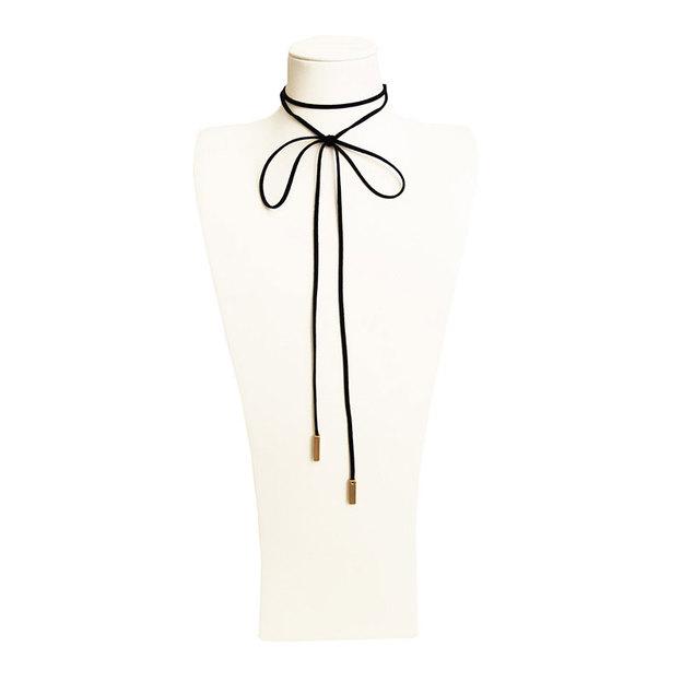 Halsband Choker Ginny schwarz/gold